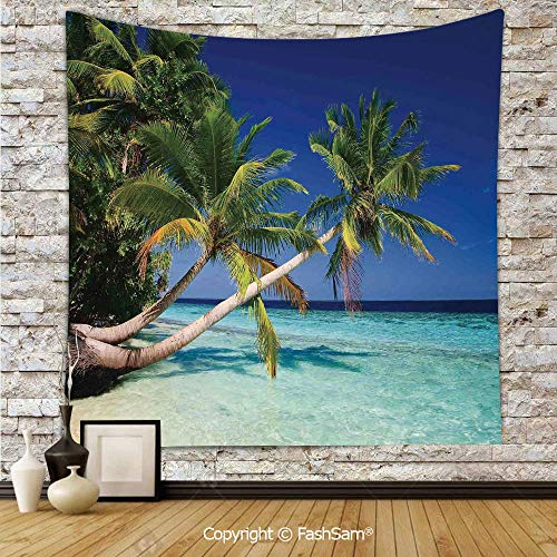 FashSam Tapestry Wall Hanging Maldives Bay Summer Pacific Holiday Destinations Decorative Tapestries Dorm Living Room Bedroom(W39xL59) -
