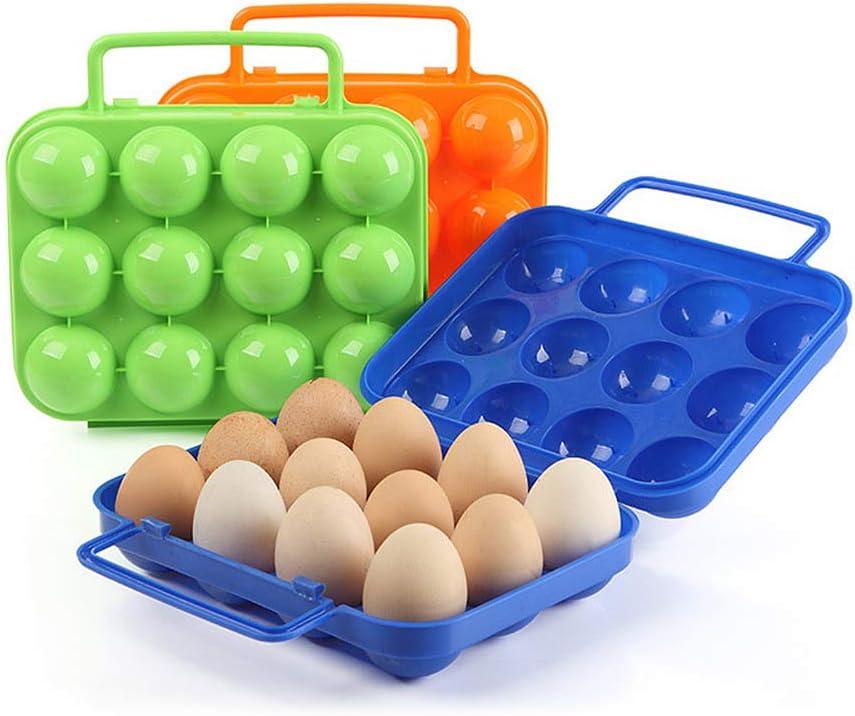 Aegilmc Estuches Plástico Protección Caja Huevos para Acampar, 4 Piezas Contenedores Almacenamiento Portacontenedores Portátiles para Caminatas al Aire Libre para 12 Huevos,Green,4pcs: Amazon.es: Hogar