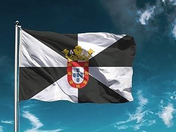 Wayshop Fácil colocación 1 Unidad Medidas 150cm x 85cm Bandera Pirata Decoración Exteriores Bandera Calavera