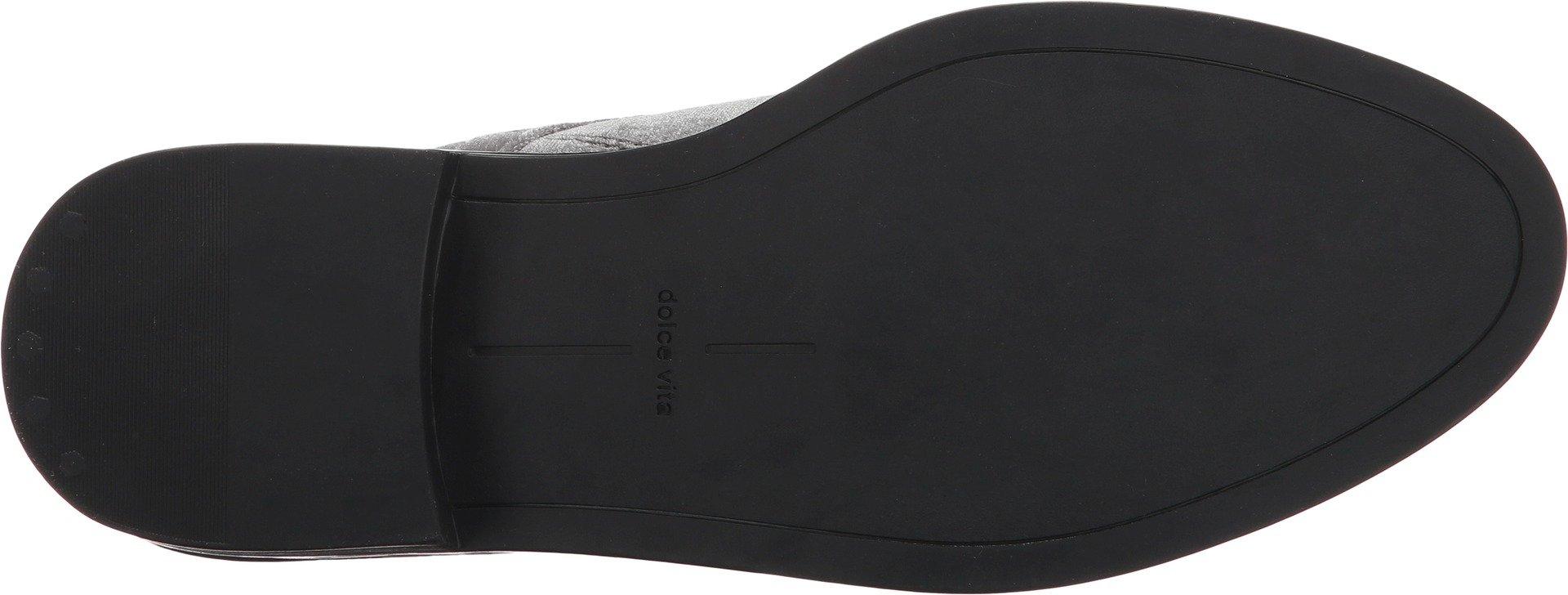 Dolce Vita Women's Bardot Combat Boot, Charcoal Velvet, 7 Medium US