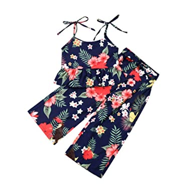 Wang-RX Summer Toddler Kid Baby Girl Off Hombro Recortar ...