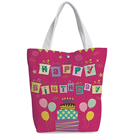 e33fe694fd28 Amazon.com  iPrint Canvas Shopping bag