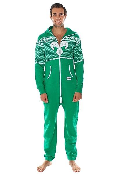 Tipsy Elves - Suéter navideño friki Pijama de cuerpo entero Renos emparejados talla Medio color