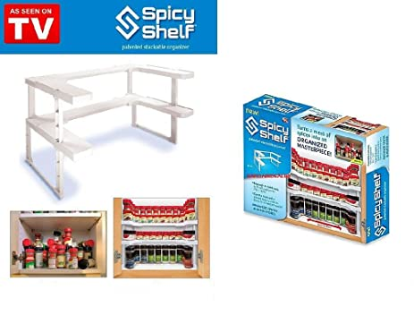Defonia K26 Spicy Shelf Spice Rack And Stackable Organizer As Seen On TV