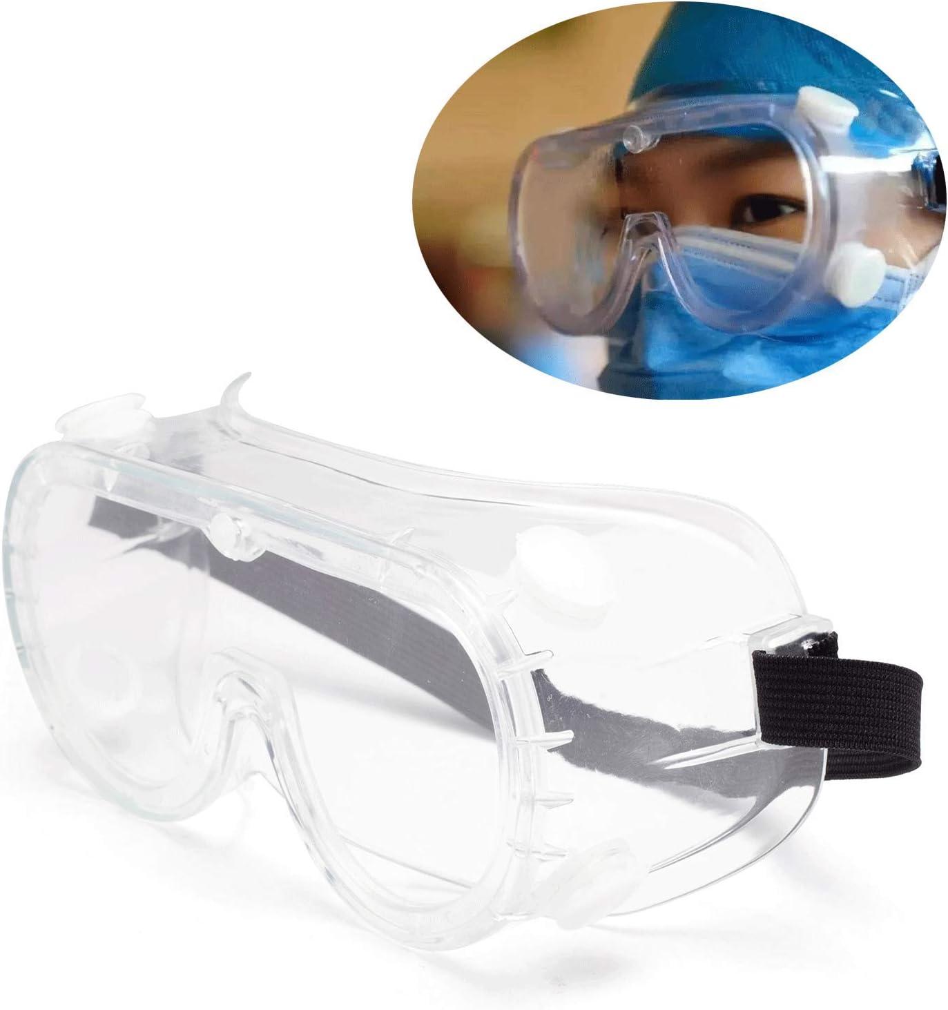 Lunettes de s/écurit/é Transparentes avec Sangle Lunettes Anti-bu/ée de Virus de Protection oculaire m/édicale
