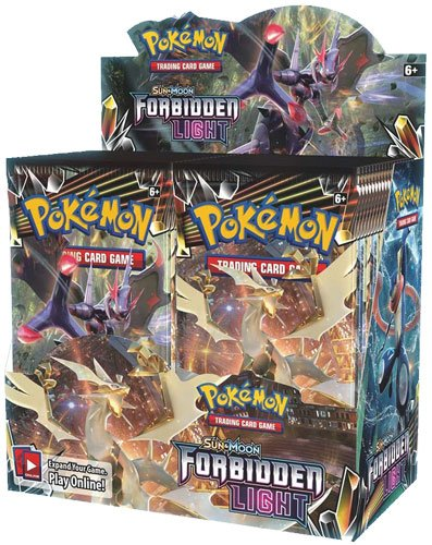 - Pokemon TCG: Sun & Moon Forbidden Light Booster Sealed Box | Collectible Trading Card Set | 36 Booster Packs | Over 130 Cards + 5 Prism Star Cards, 8 Pokemon-GX Cards, 6 Ultra Beasts, 15 Trainer Cards