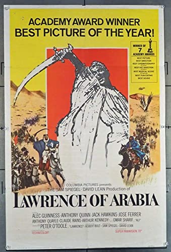 Lawrence of Arabia o/'Toole vintage movie poster print
