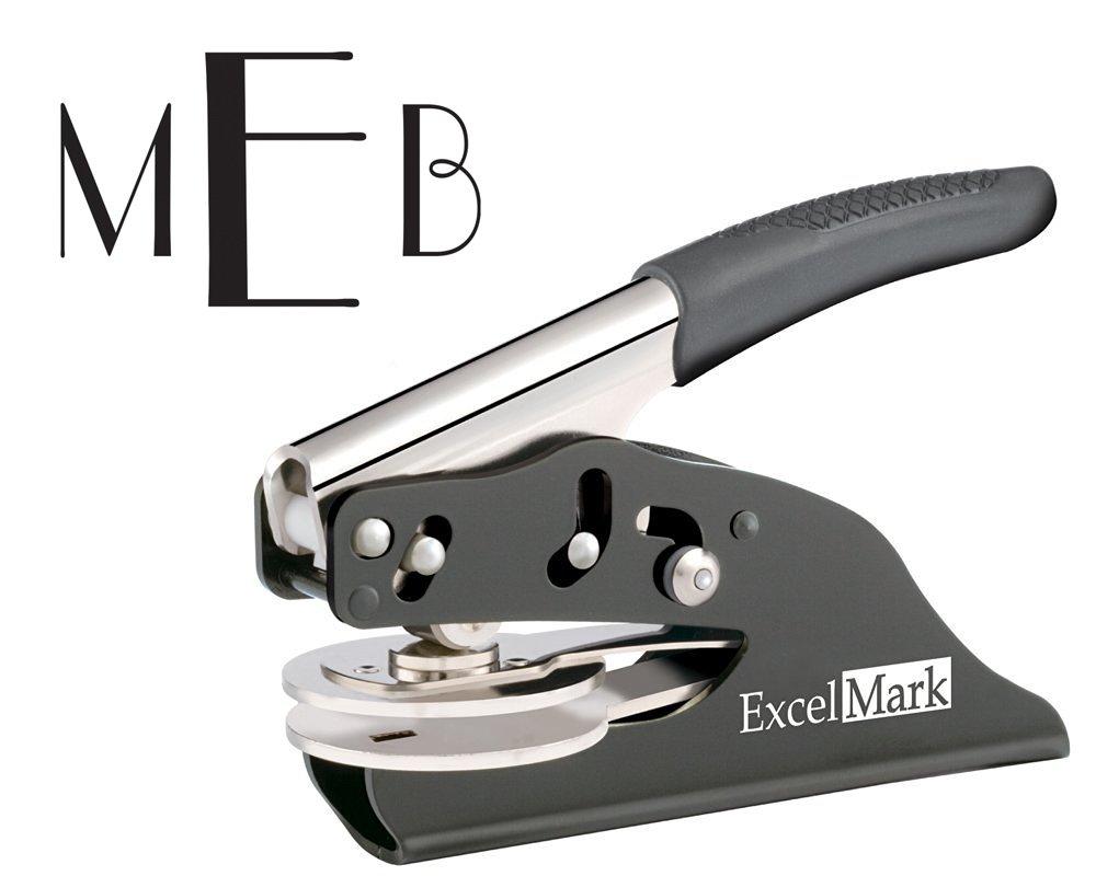 ExcelMark Hand Held Embosser - Monogram Gift Embosser – Style 26