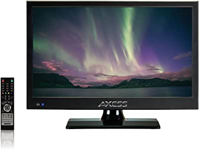 AXESS TV1705-19 19-Inch LED HDTV, Features 1xHDMI/Headphone Inputs, Digital Tuner with Full Function Remote