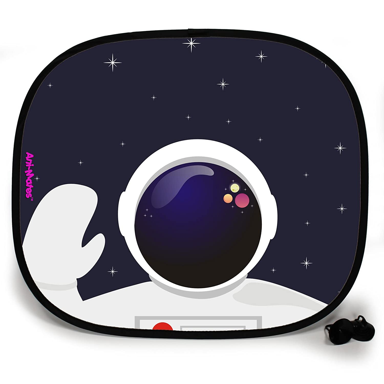 123t OUTTA THIS WORLD ASTRONAUT SPACEMAN PLAIN Baby/Child Vehicle Sunshade x 1