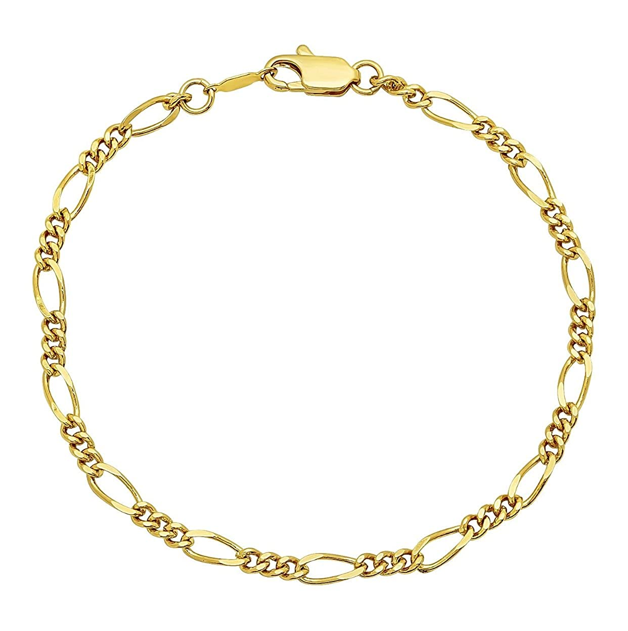 usa Seller The Best Stainless Steel Figaro Ankle Bracelet ????????