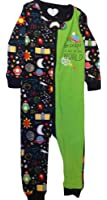 Children's Place Baby boy Zippered Pajamas space Theme