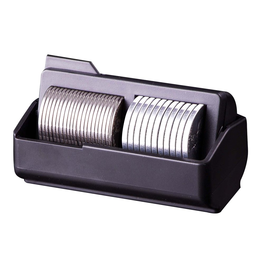 Hypersonic HP3508 Car Black Coin Storage Holder Office Coins Change Box
