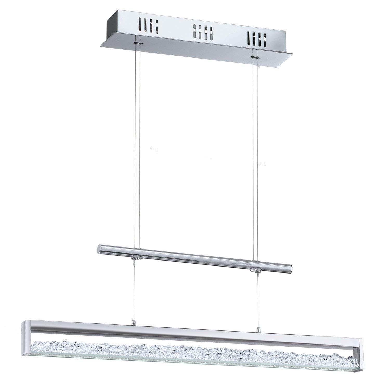 EGLO Hängeleuchte, Aluminium, Integriert, Chrom, 70 x 8 x 110 cm