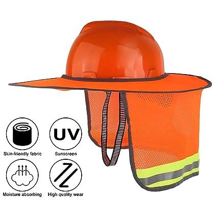 17d42da4c84 Amazon.com  LOAZRE 741025798700 Hard Hat Sun Shield