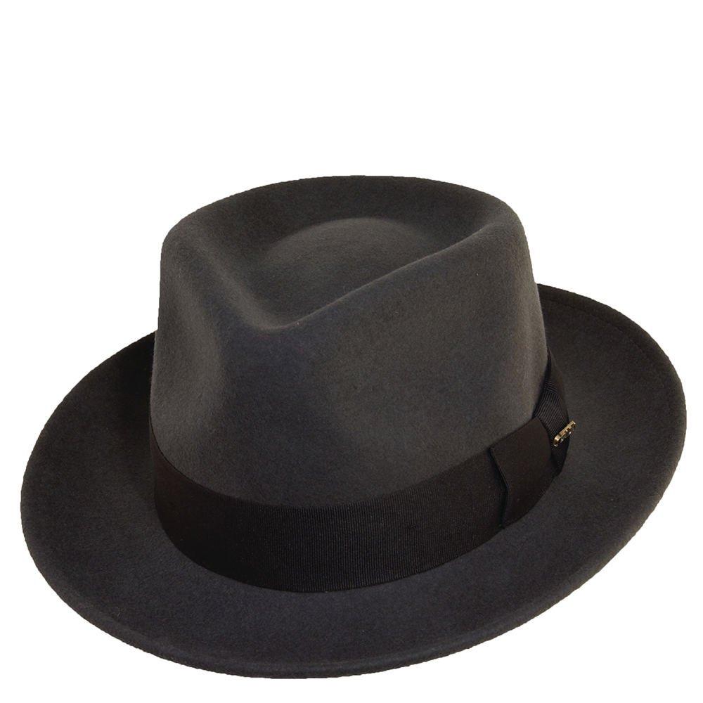 deab267a041b4 Scala Classico Men s Crushable Water Repelant Wool Felt Fedora Hat ...