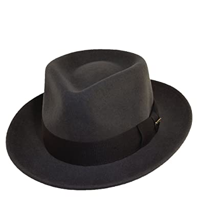 Scala Classico Men s Crushable Water Repelant Wool Felt Fedora Hat ... 19e56a50464a