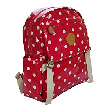 amazon com water resistant rucksack polka dot backpack for teens