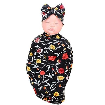 Newborn Girl Clothes Baby Blankets for Girls Boys Sloth Print Baby Swaddle Wrap Newborn Receiving Blanket Headband Set