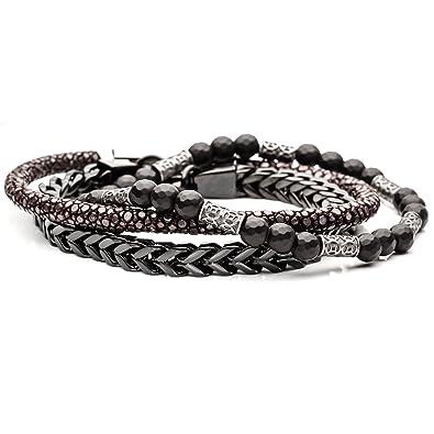 4e9dd4b57d878 Amazon.com: Tribal Hollywood Archeologist Mens Bracelet Stack with ...