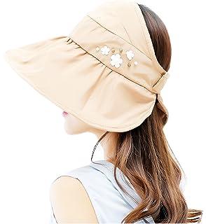 bacacda00c6f73 JOYEBUY Women Wide Brim UV Protection Summer Beach Visor Cap Sun Hat ...