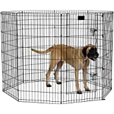 MidWest Exercise Pen with Door, 48-Inch, Black