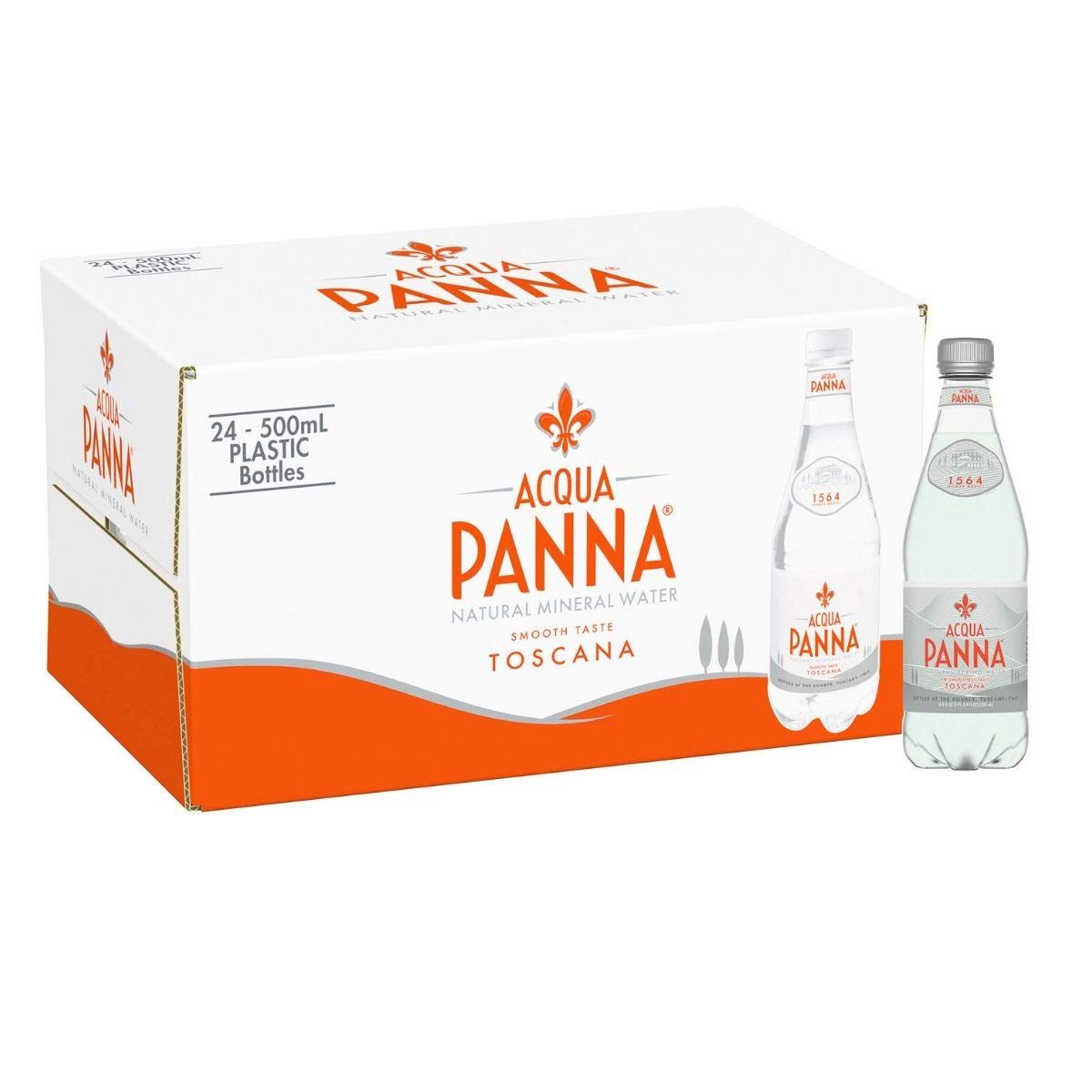 Acqua Panna Natural Spring Water,(24 Count) 16.9 fl oz. Plastic Bottles (Pk of 4)