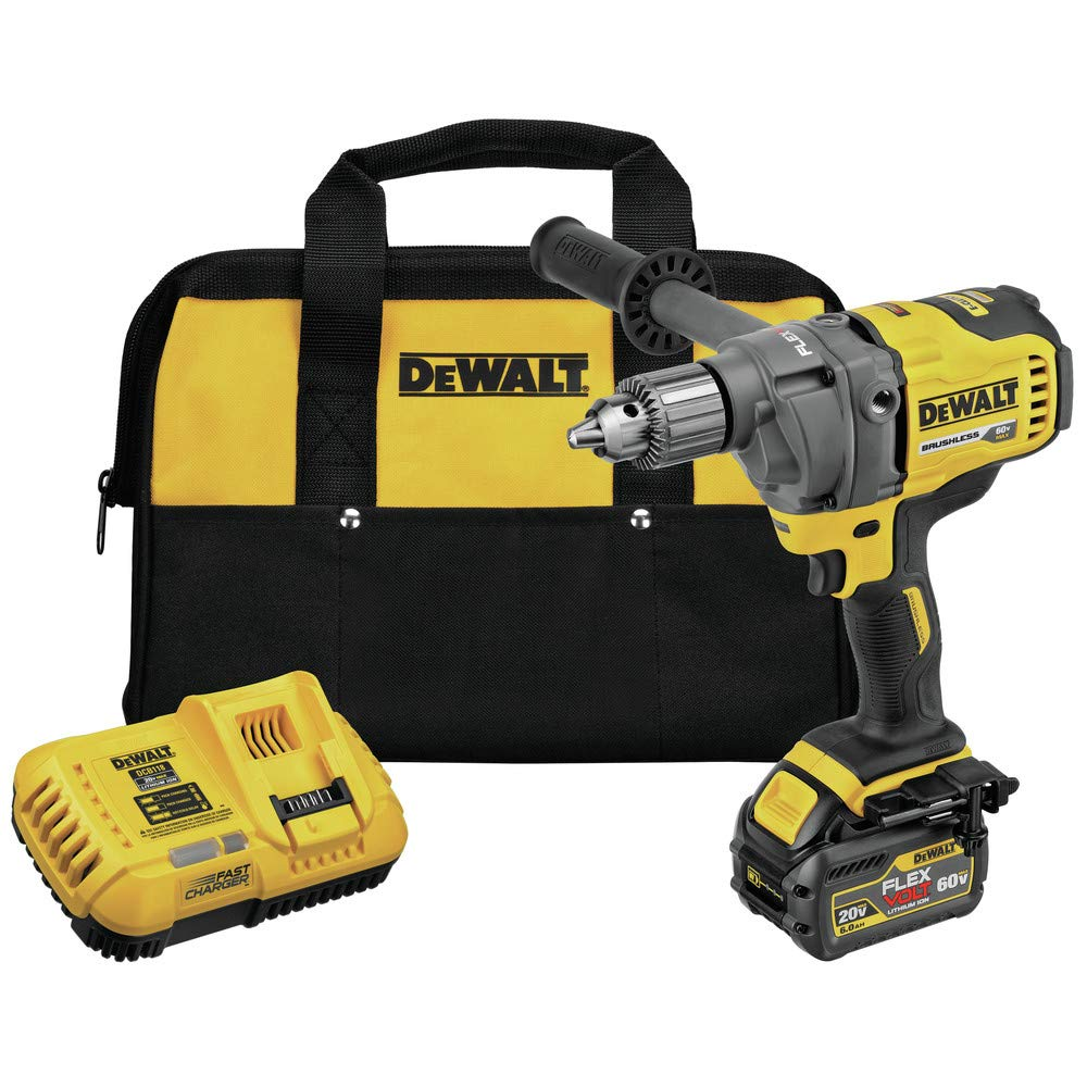 Dewalt DCD130T1 60V MAX Mixer/Drill with E-Clutch System Kit