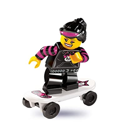 LEGO 8827 Minifigures Series 6 - Minifigure Skater Girl x1 Loose: Toys & Games
