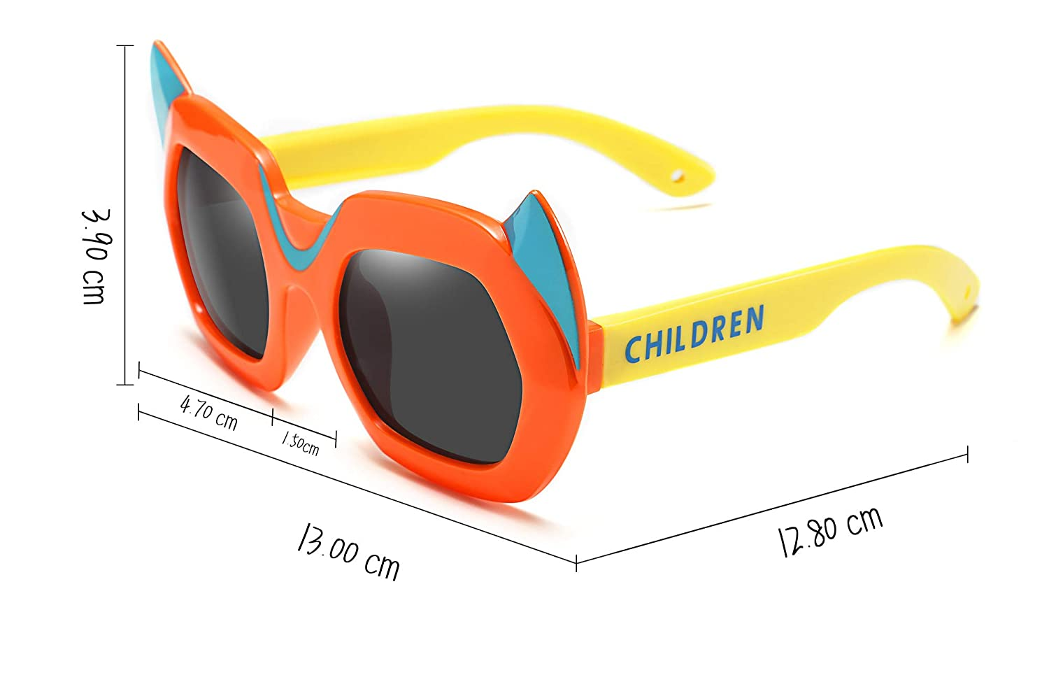 FEISEDY Kids Fancy Dress Polarized Sunglasses Cartoon Detachable Bat Wings B2452