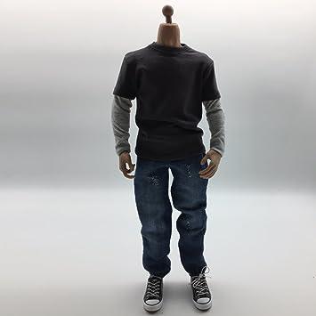 T-shirt à Manches Longues Pour Hommes 1//6 Pour Figurines 12 /'/'