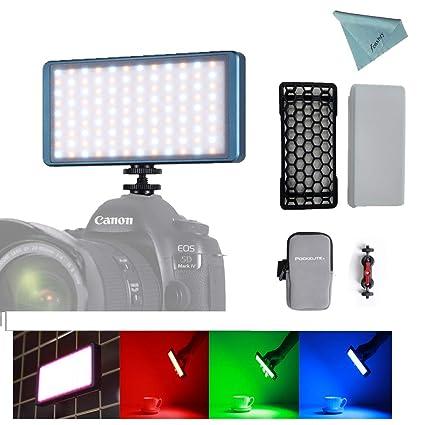 Falcon Eyes F7 RGB 12W LED a cámara de luz incorporada batería ...