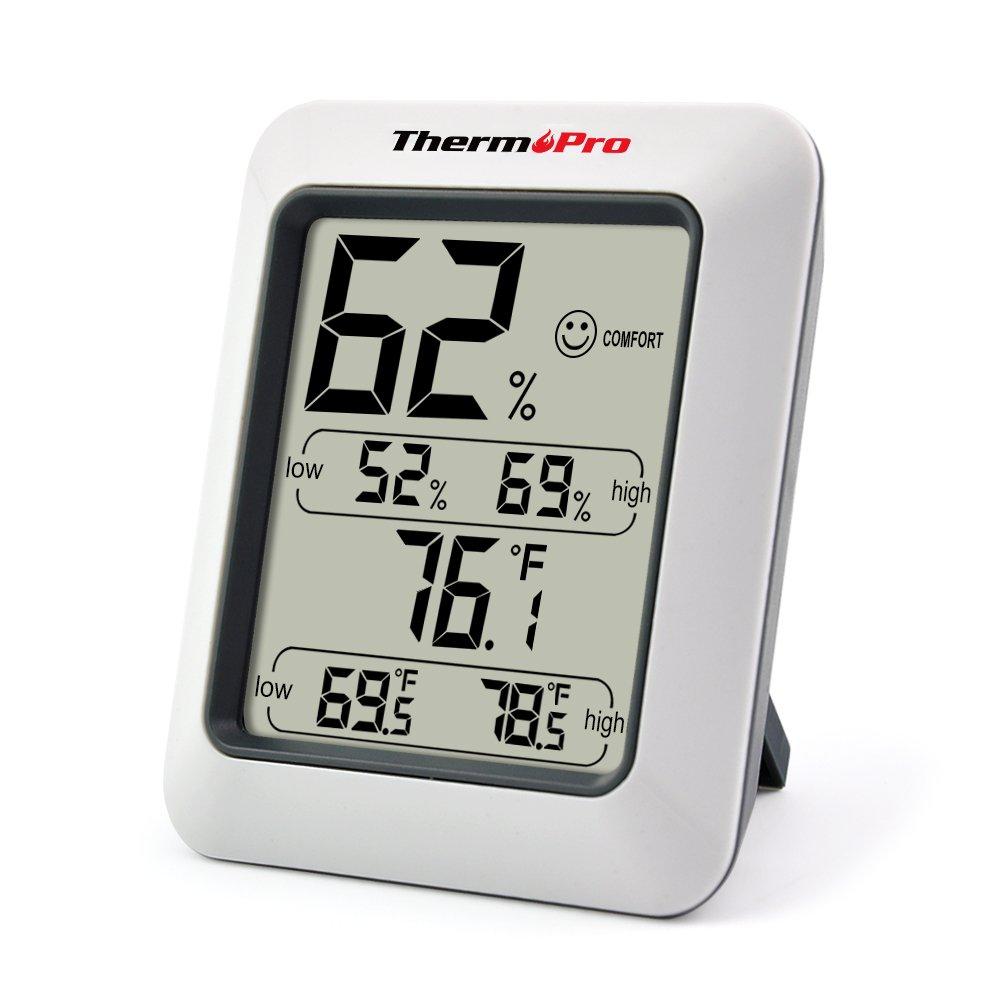ThermoPro Termómetro Higrometro digital  Termohigrómetro digital Medidor Temperatura y Humedad