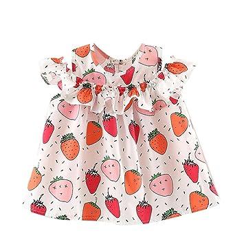 c2864c4a9 Newborn Infant Toddler Baby Girls Party Princess Dresses Cuekondy Summer  Sleeveless Fruit Printing Sundress for 6