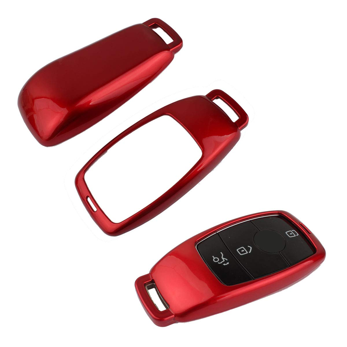 TOMALL Key Cover for 2016 up Mercedes Benz New E Class / 2018 up Mercedes Benz New S Class Smart Remote Key Fob Cover Shell Black