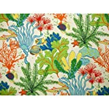 Splish Splash Futon Cover Full Size, Proudly Made in USA (Colorful Ocean Life Print, Fish, Coral, Starfish, Marine Pattern)