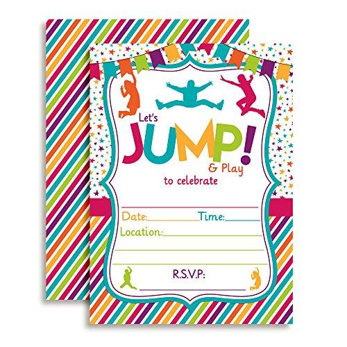 Top 1 best jump girls bday invites