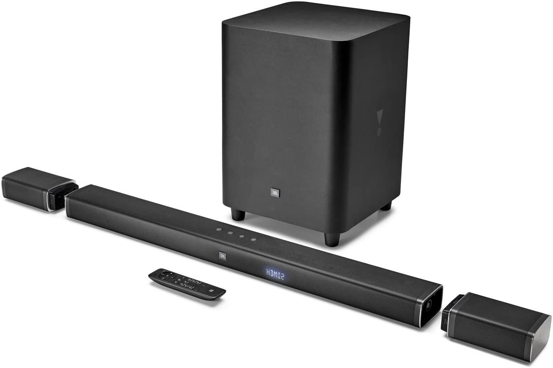 JBL Bar 5.1 4K Ultra HD 5.1-Channel Soundbar with True Wireless Surround Speakers