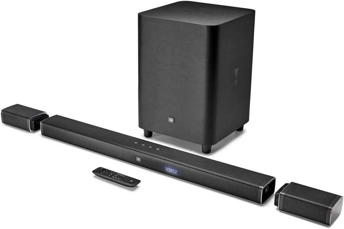 JBL Bar 5.1 4K Ultra HD 5.1-Channel Soundbar with True Wireless Surround Speakers, Black JBLBAR51BLK