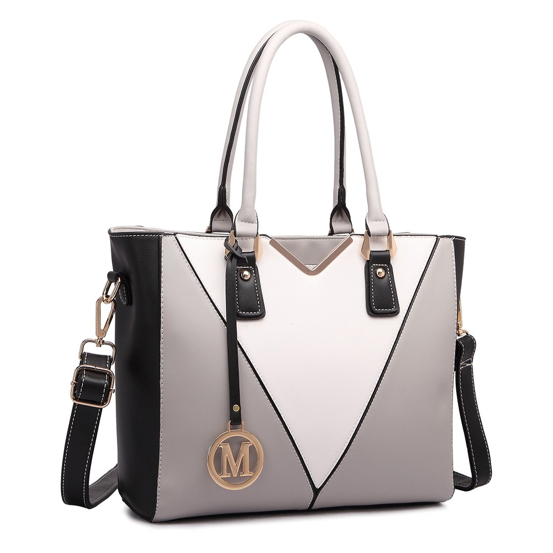 Miss Lulu Women Purses and Handbags V Shape Lady Top Handle Tote Shoulder Bag