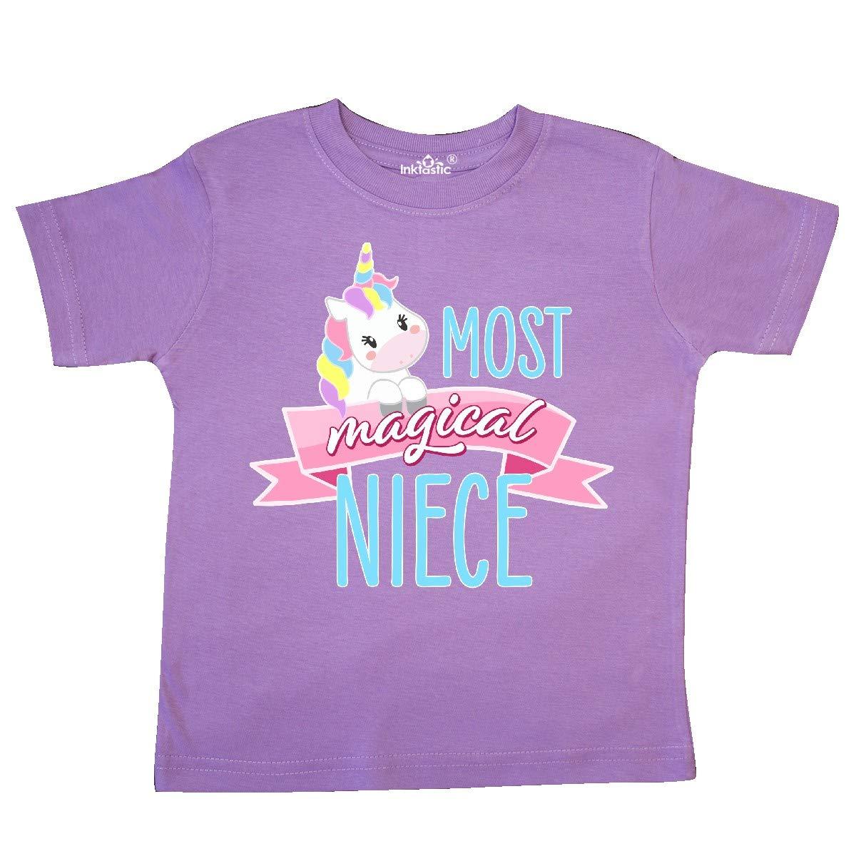 inktastic Most Magical Niece Cute Unicorn Toddler T-Shirt