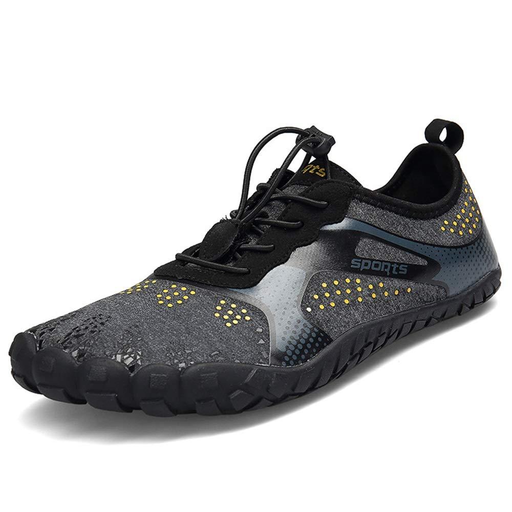 Qiusa Mens Bequeme Outdoor-Schuhe Breathable geschlossene Zehe weiche Sohle Wasser Schuhe (Farbe   Schwarz, Größe   EU 41)