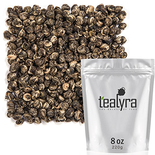- Tealyra - Imperial Jasmine Dragon Pearls - Loose Leaf Green Tea - Jasmine Green Tea with Pleasant Aroma and Tonic Effect - 220g (8-ounce)