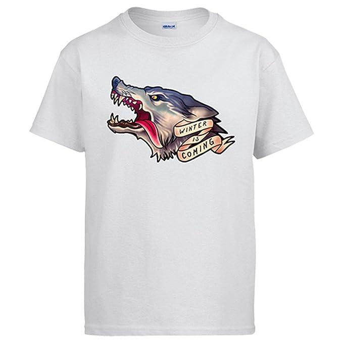 Camiseta Juego de Tronos Lobo winter is coming: Amazon.es: Ropa y accesorios