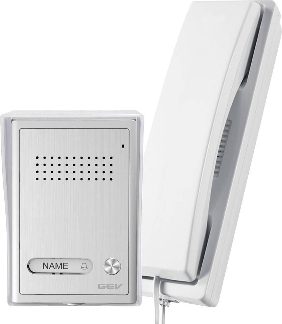 GEV 1-Familienhaus Audio-Tü rsprechanlage CAB, 1 Stü ck, Silber weiß , 87347