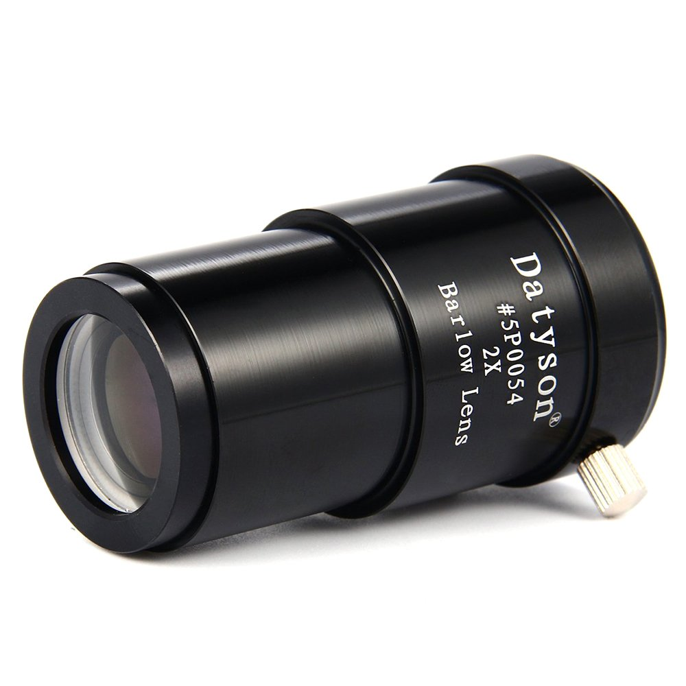 2X Barlow Lens 1.25'' Fully Metal 2 Times Magnification for Astronomical Telescope Eyepiece Ocular Datyson