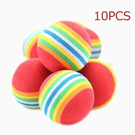 Beito Kit de Pelota de Esponja 10 Paquete Rainbow Animales balones ...