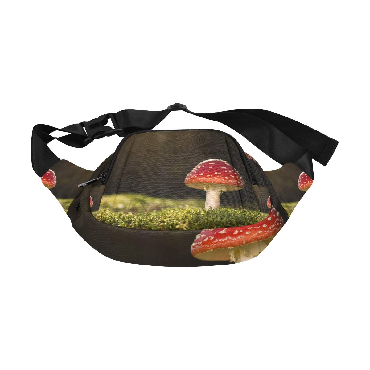 Group Of Mushrooms In The Forest Fenny Packs Waist Bags Adjustable Belt Waterproof Nylon Travel Running Sport Vacation Party For Men Women Boys Girls Kids