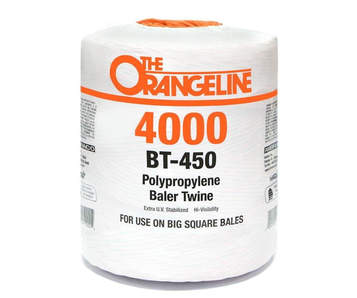Orangeline Polypropylene Baler Twine - 450 knot strenth - Weather UV Resistant HI-VIS - 4,000 Ft. - For big square bales - Orange by TheOrangeline