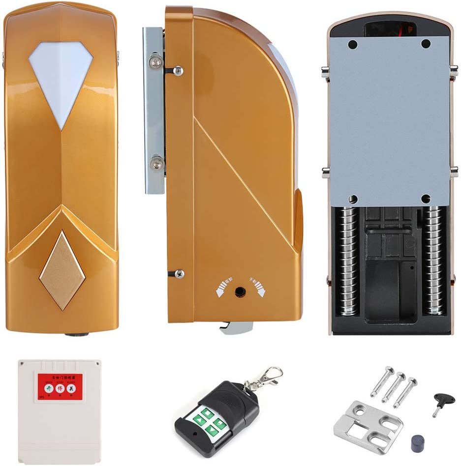 Automatic Dual Swing Gate Opener 2 Motors and 2 Remote Controller with 1 Control Box Electric Gate Opener